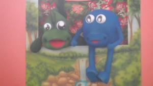 Conheçam nossos lindos mascotes - Peixolho e Planetinha. Eles divulgam o Projeto Olho Vivo.